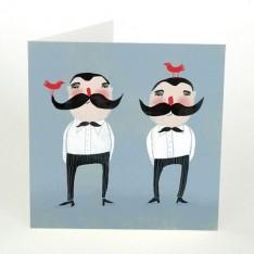 moustache twins