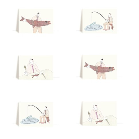 fishmen postcard set