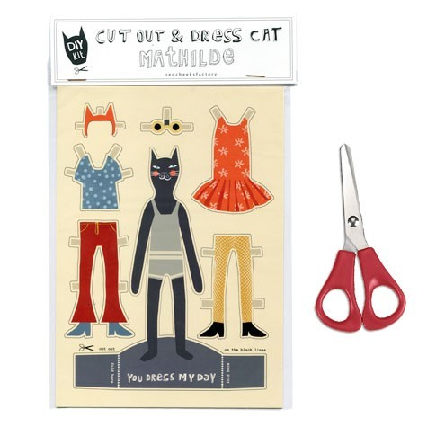 Mathilde: DIY paper doll to cut out and dress