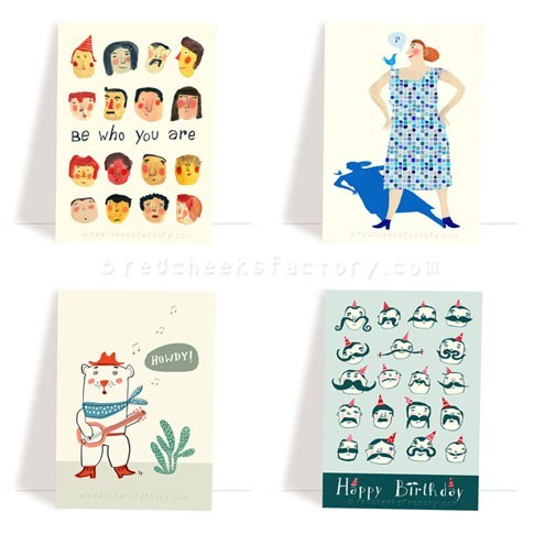 various postcard set