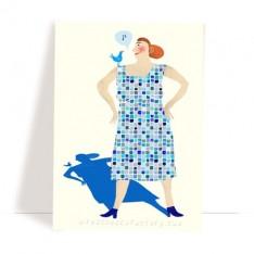 postcard 'the blues'