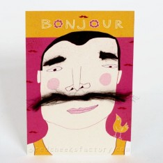 'bonjour' postcard