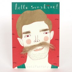 'hello sunshine' postcard