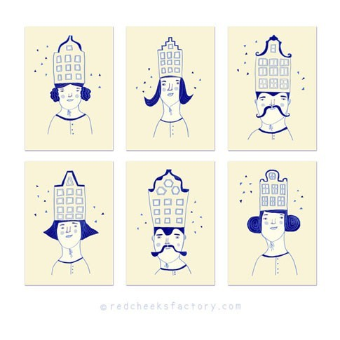 Dutch Hat party postcard set