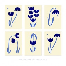 Dutch Tulips postcard set