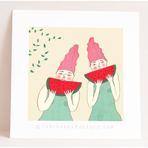 watermelon twins