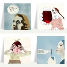 Face postcard set 1