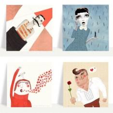 Face postcard set 2