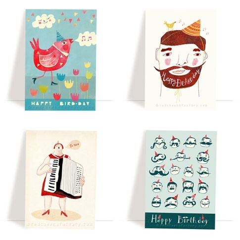Birthday postcard set