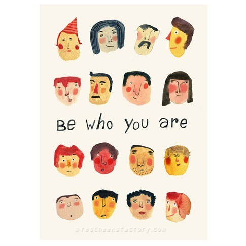 Be who you are mini poster