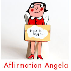 Affirmation Angela DIY 3D angel
