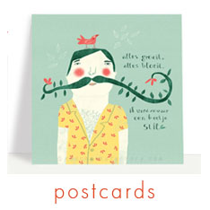 Red Cheeks Factory postcards